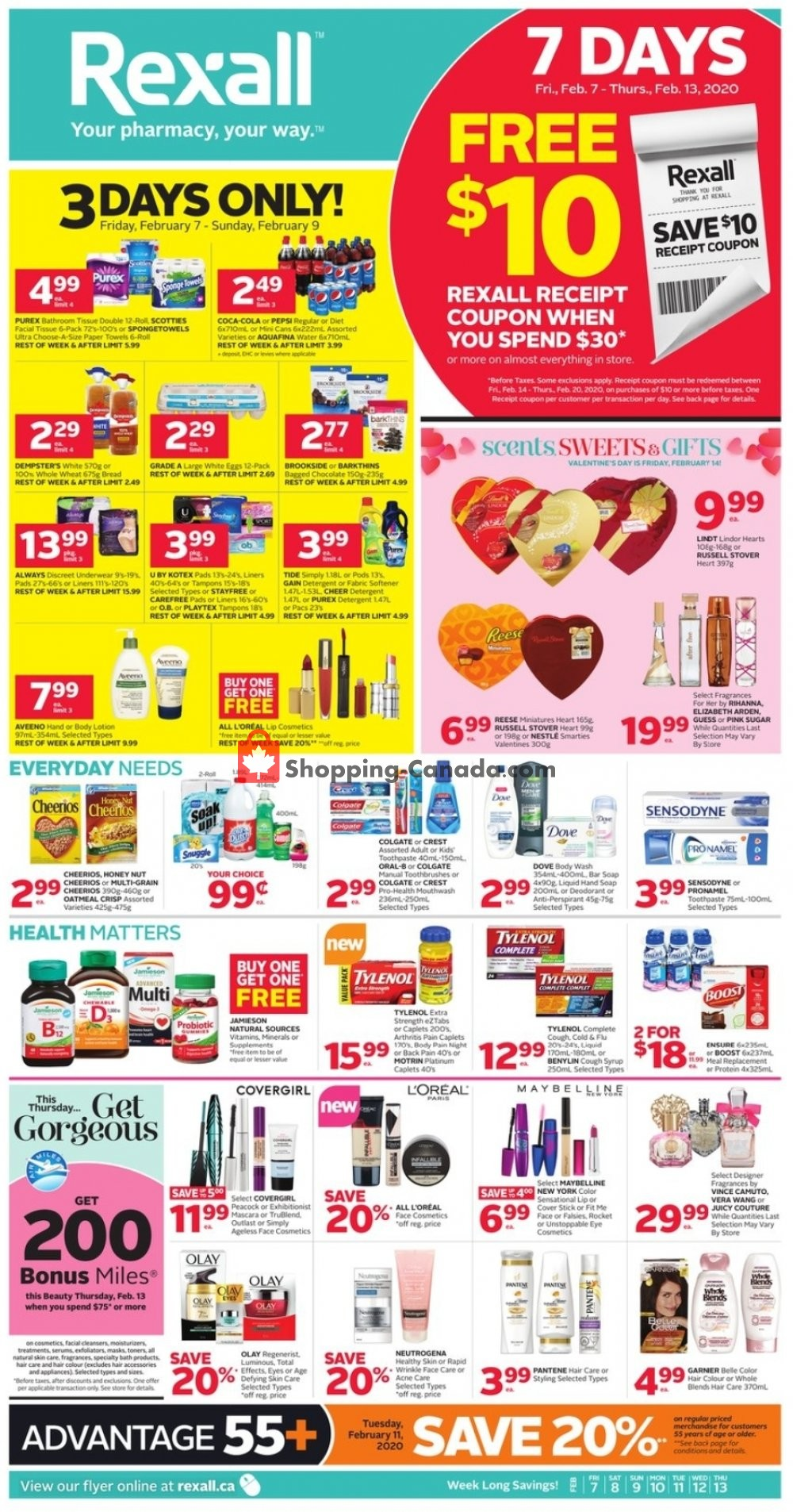 Flyer Rexall Drug Store Canada - from Friday February 7, 2020 to Thursday February 13, 2020