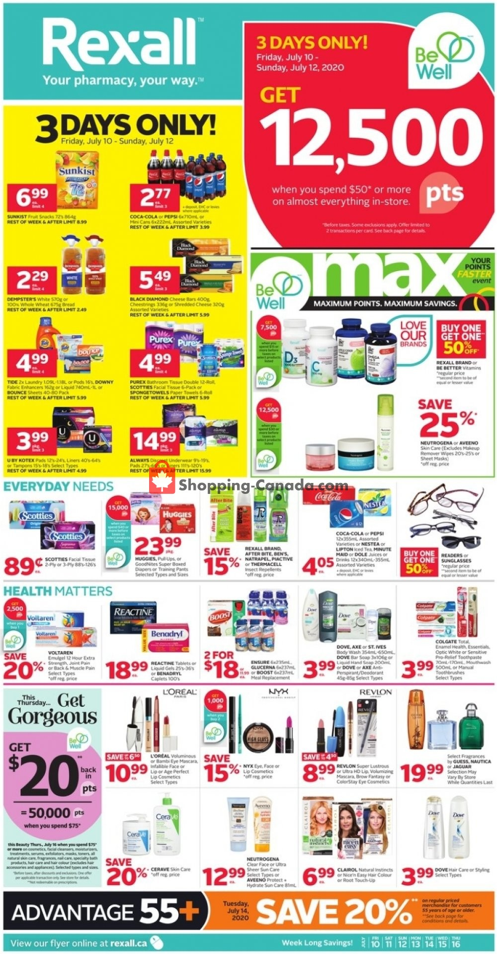Flyer Rexall Drug Store Canada - from Friday July 10, 2020 to Thursday July 16, 2020
