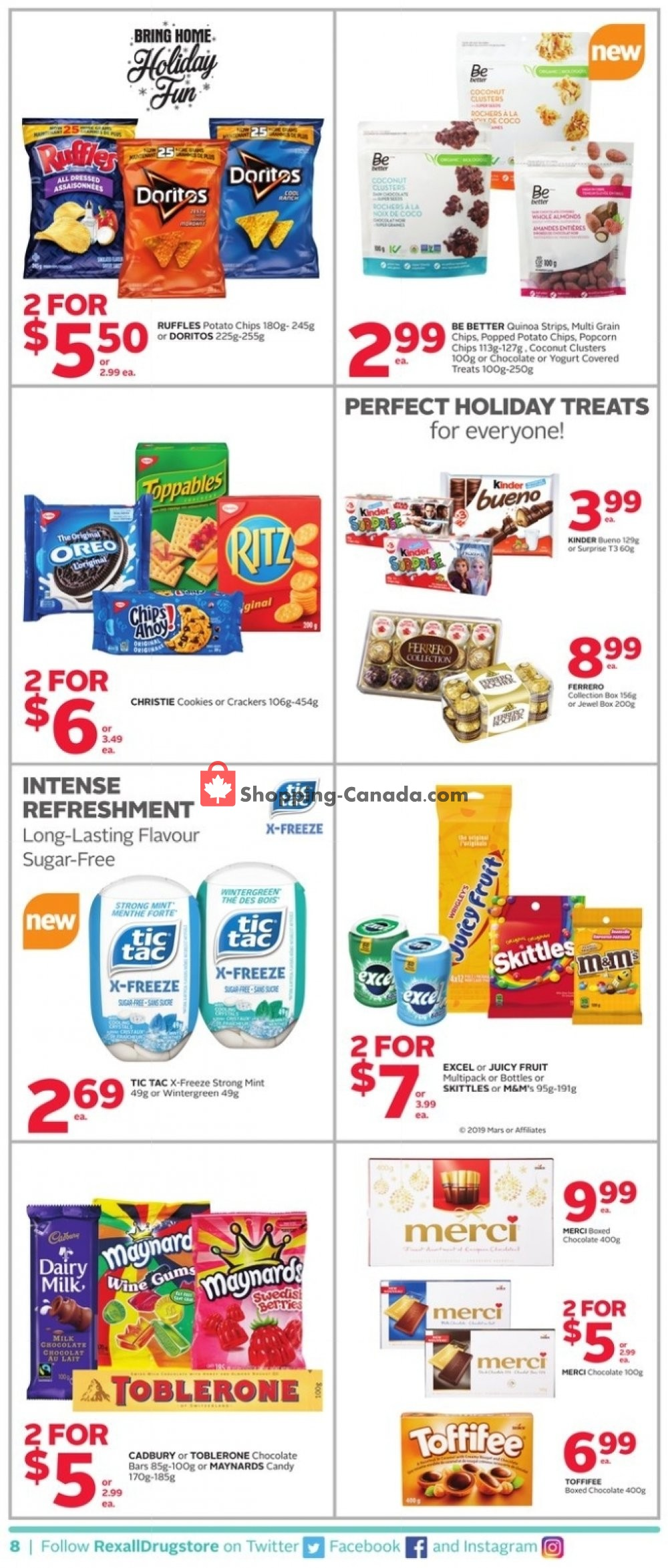 Flyer Rexall Drug Store Canada - from Friday November 8, 2019 to Thursday November 14, 2019