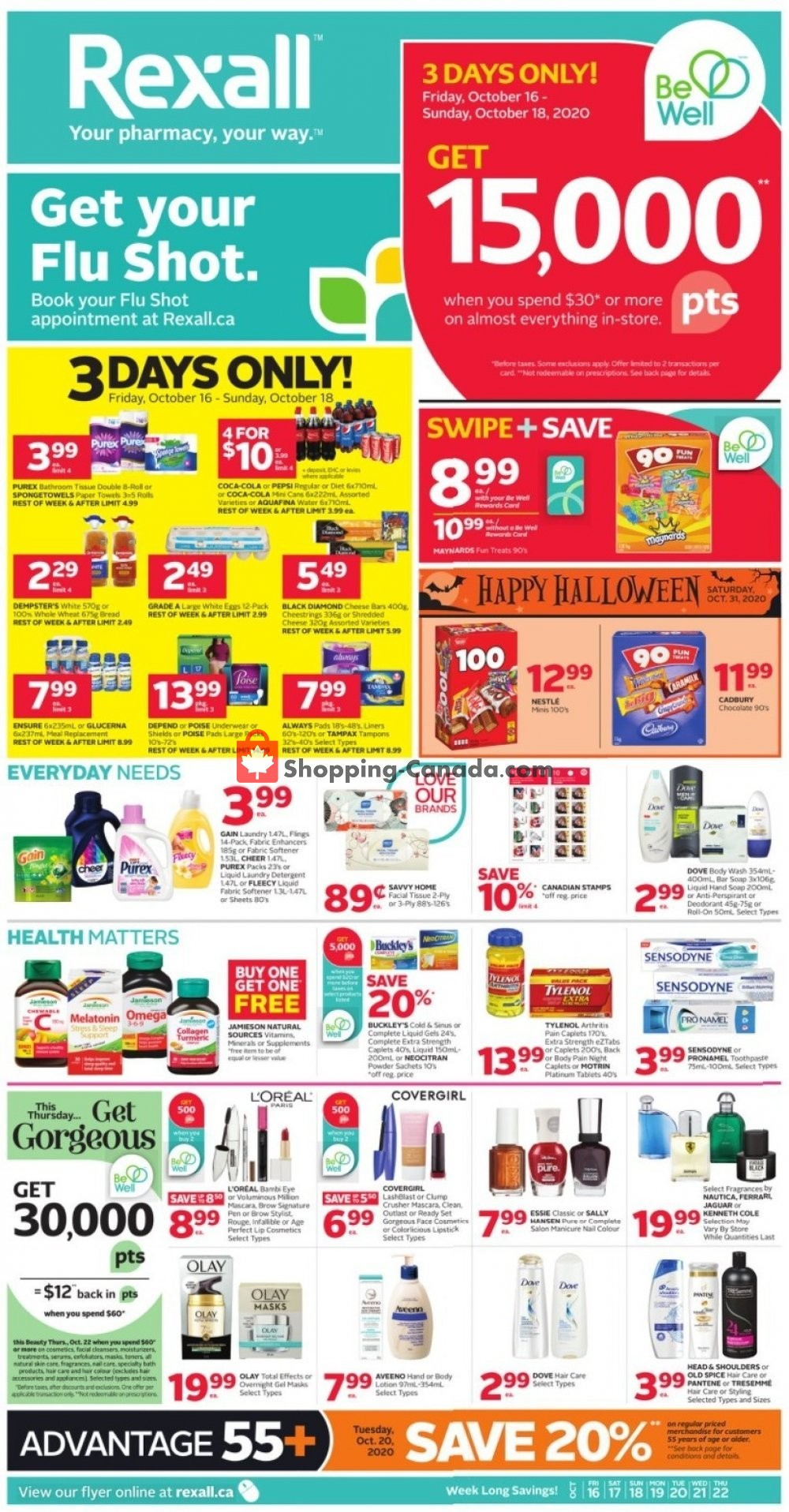 Flyer Rexall Drug Store Canada - from Friday October 16, 2020 to Thursday October 22, 2020