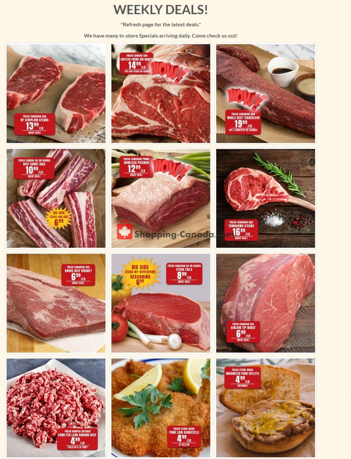 Flyer Robert's Fresh and Boxed Meats Canada - from Tuesday September 7, 2021 to Monday September 13, 2021