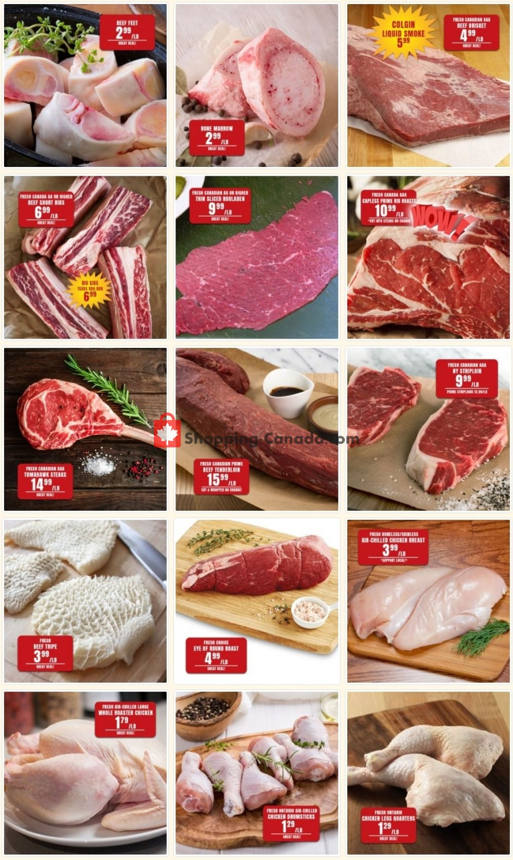Flyer Robert's Fresh and Boxed Meats Canada - from Tuesday January 19, 2021 to Monday January 25, 2021