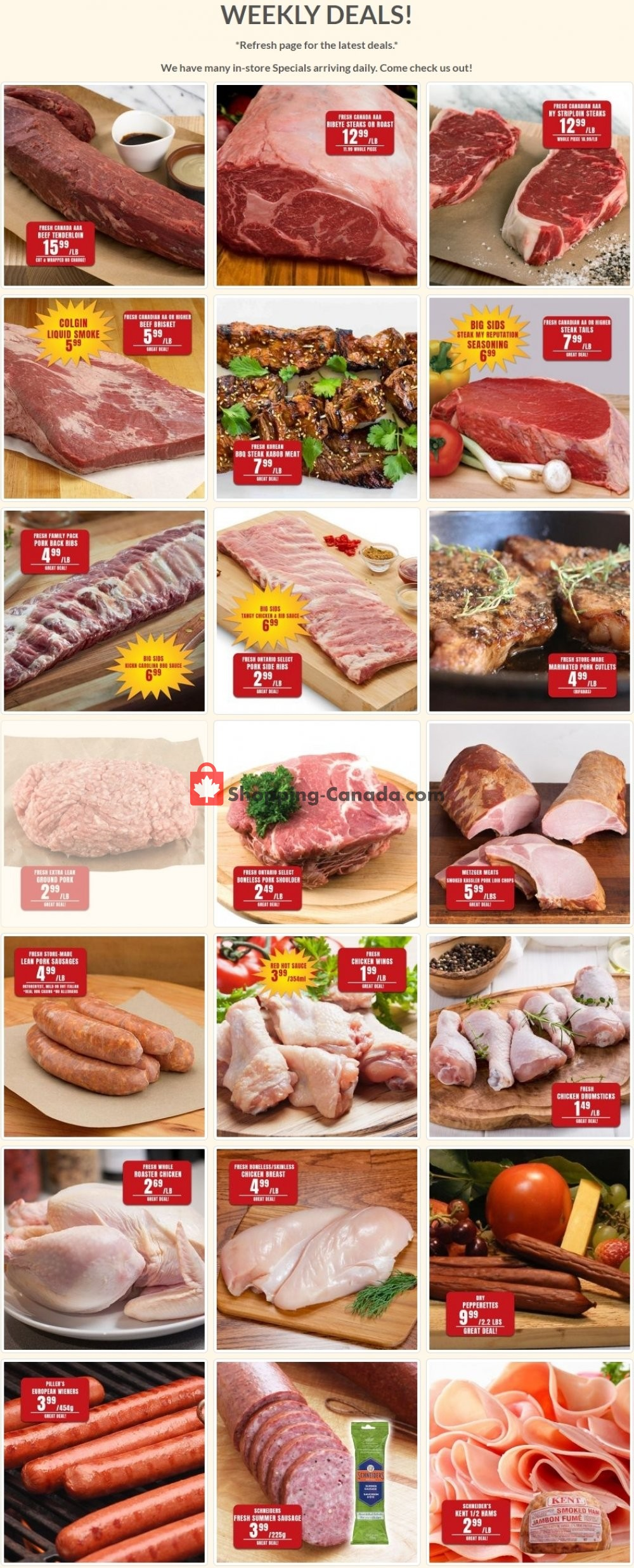 Flyer Robert's Fresh and Boxed Meats Canada - from Tuesday July 28, 2020 to Monday August 3, 2020
