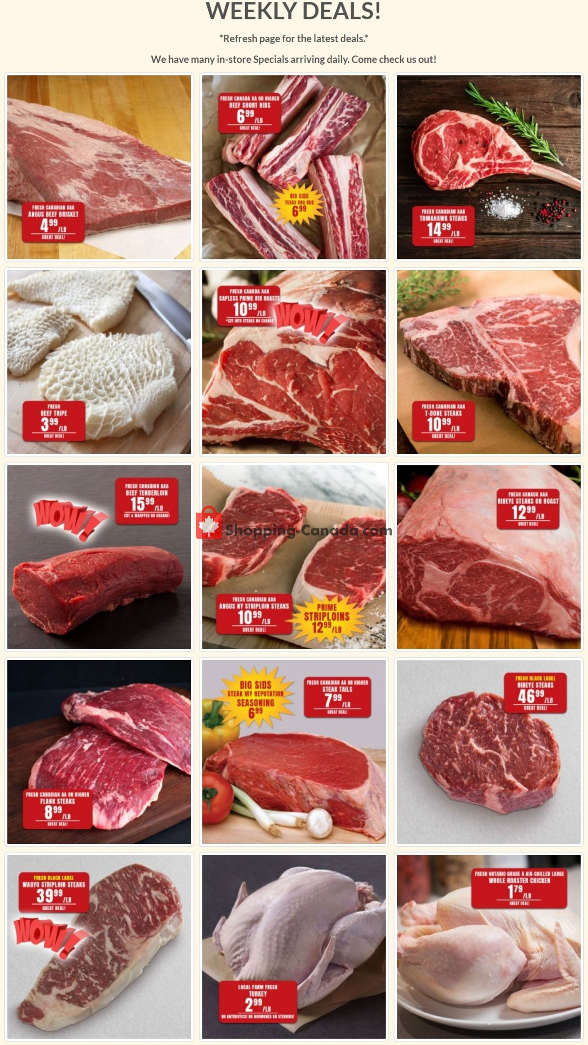 Flyer Robert's Fresh and Boxed Meats Canada - from Tuesday March 30, 2021 to Monday April 5, 2021