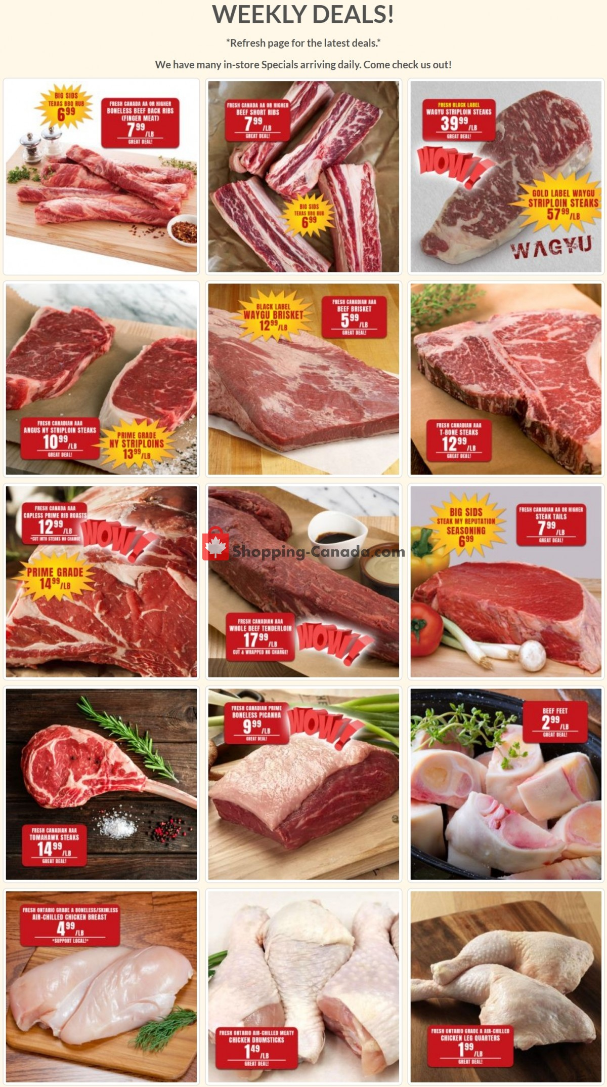 Flyer Robert's Fresh and Boxed Meats Canada - from Tuesday May 4, 2021 to Monday May 10, 2021