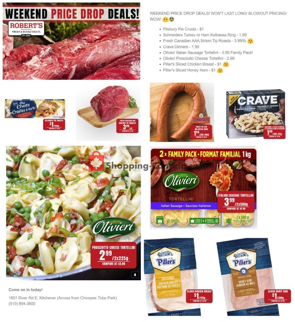 Flyer Robert's Fresh and Boxed Meats Canada - from Friday January 10, 2020 to Thursday January 16, 2020