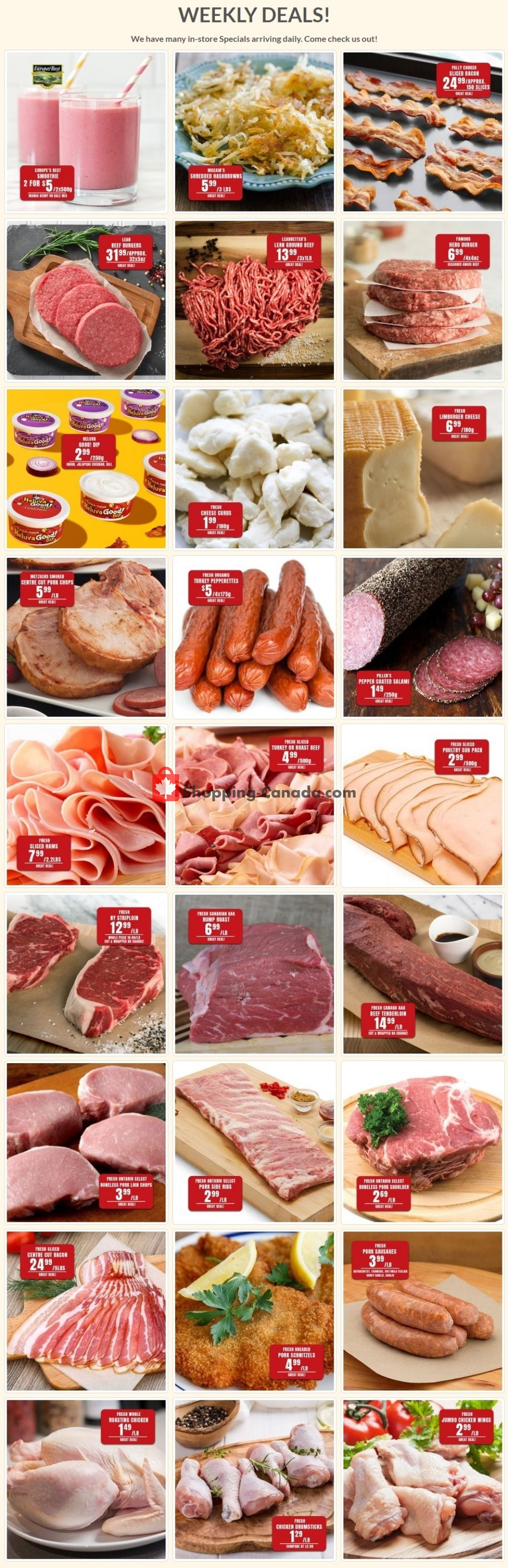 Flyer Robert's Fresh and Boxed Meats Canada - from Tuesday April 21, 2020 to Monday April 27, 2020