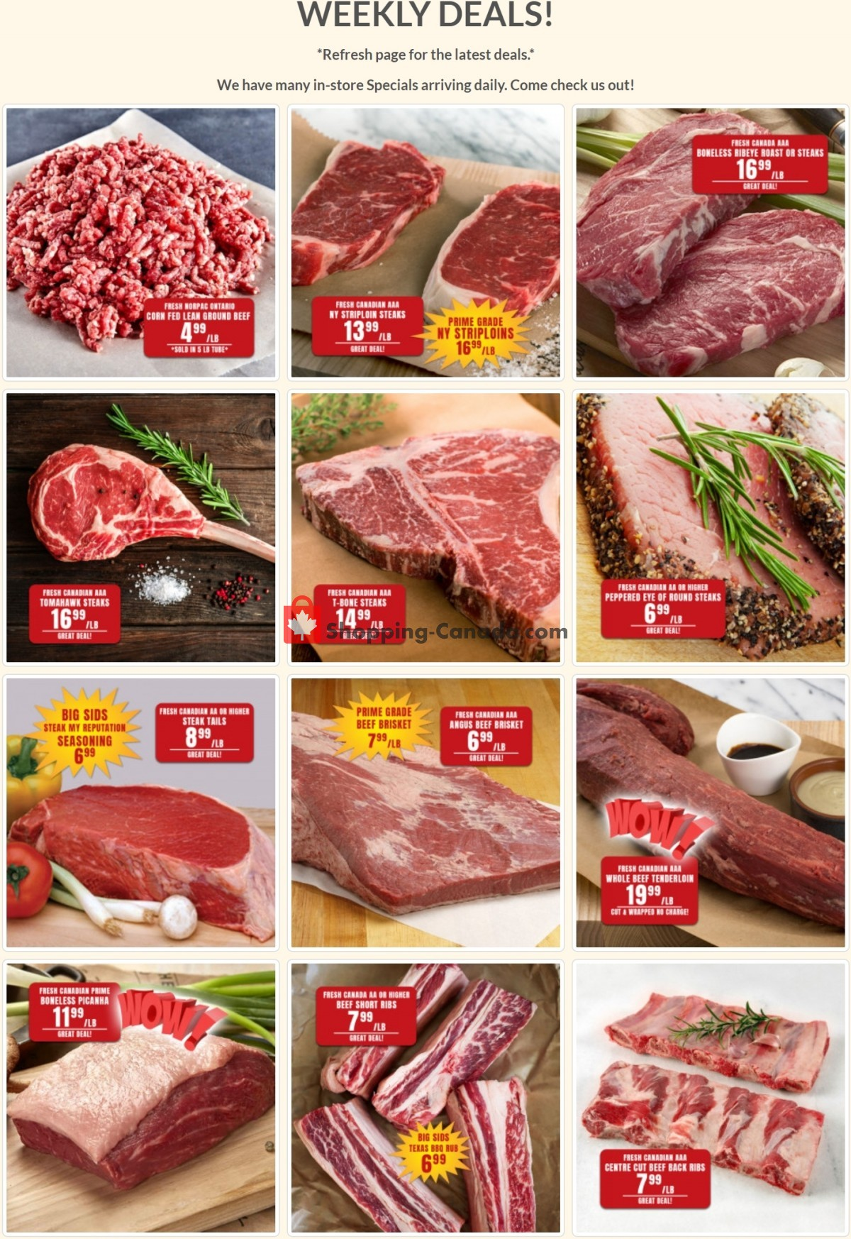 Flyer Robert's Fresh and Boxed Meats Canada - from Tuesday July 13, 2021 to Monday July 19, 2021