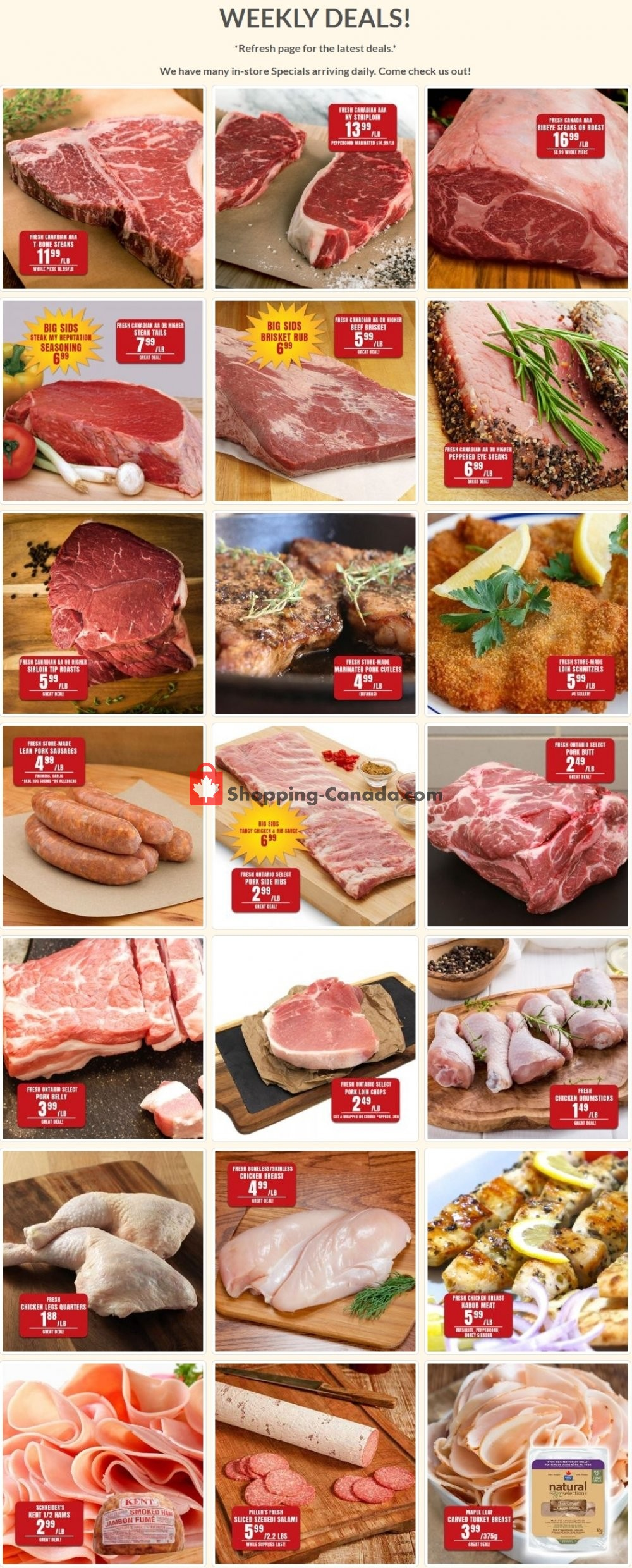 Flyer Robert's Fresh and Boxed Meats Canada - from Tuesday July 14, 2020 to Monday July 20, 2020