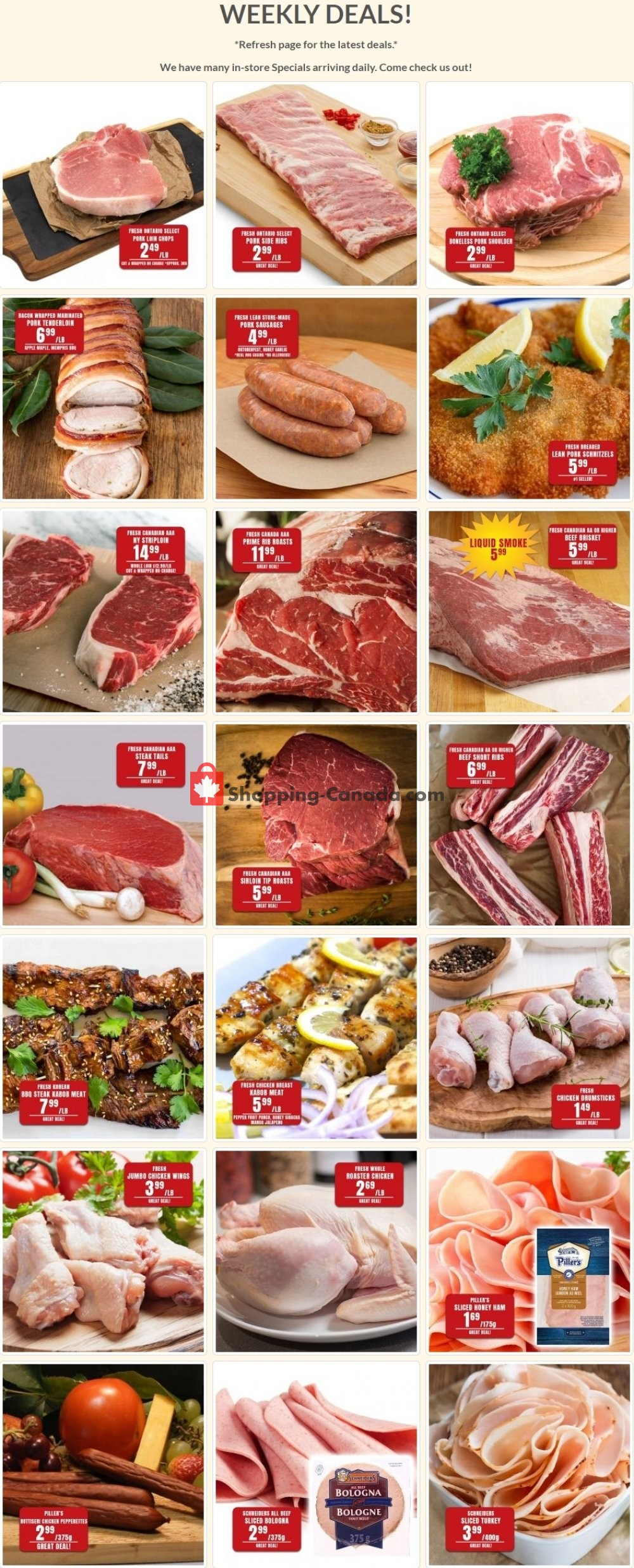 Flyer Robert's Fresh and Boxed Meats Canada - from Tuesday July 7, 2020 to Monday July 13, 2020