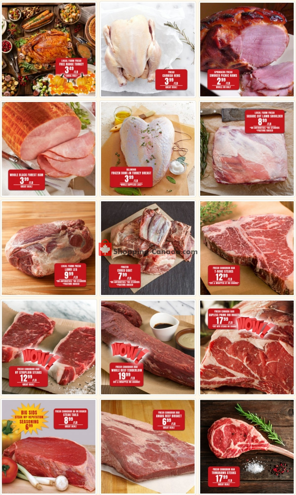 Flyer Robert's Fresh and Boxed Meats Canada - from Monday October 4, 2021 to Sunday October 17, 2021