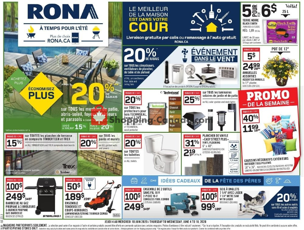 Flyer Rona Canada - from Thursday June 4, 2020 to Wednesday June 10, 2020