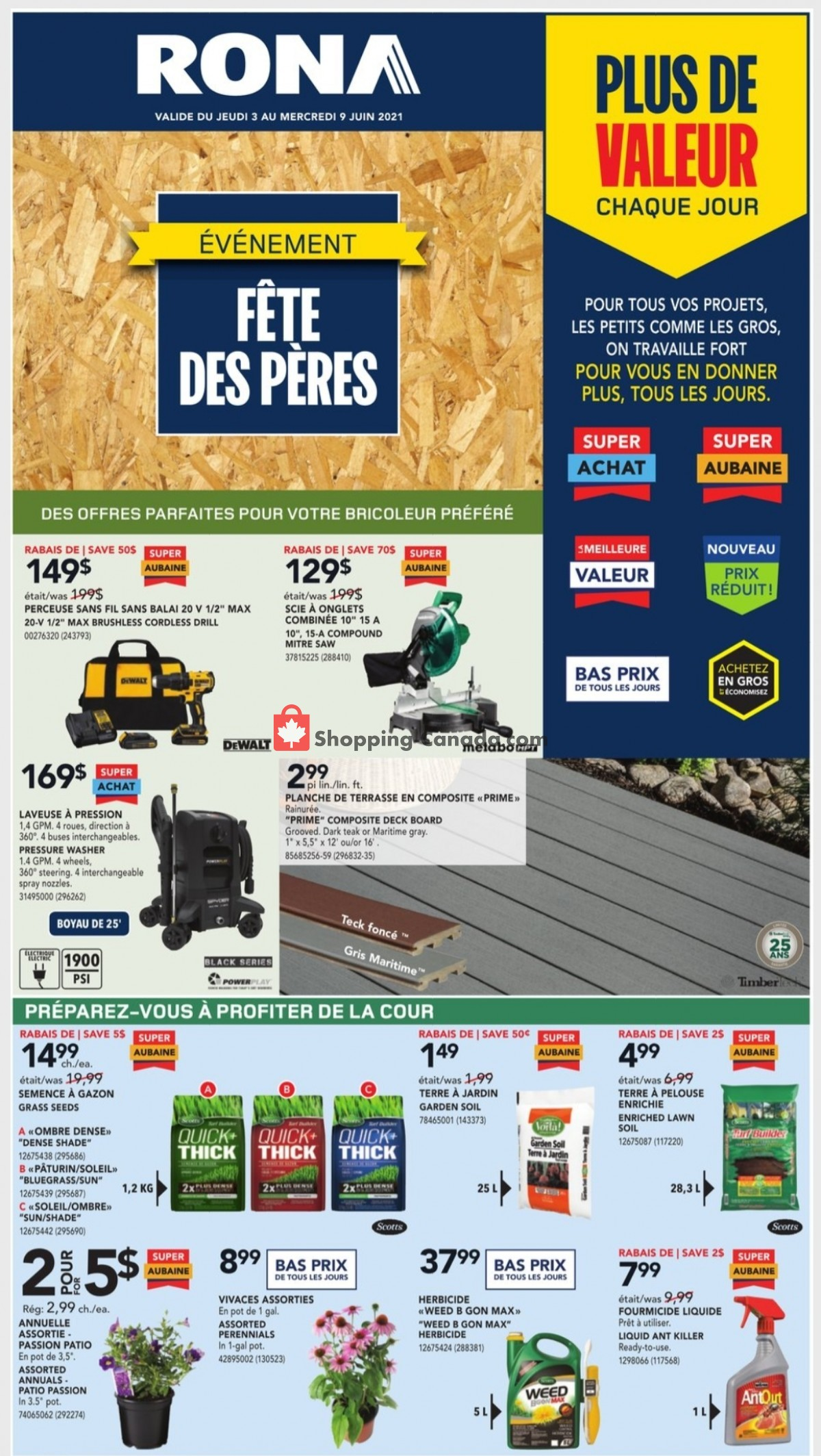 Flyer Rona Canada - from Thursday June 3, 2021 to Wednesday June 9, 2021