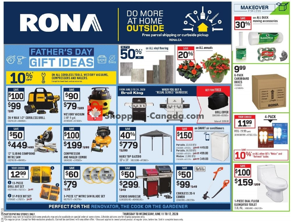 Rona Canada Flyer Father S Day Gift Ideas On June 11 June 17 2020 Shopping Canada
