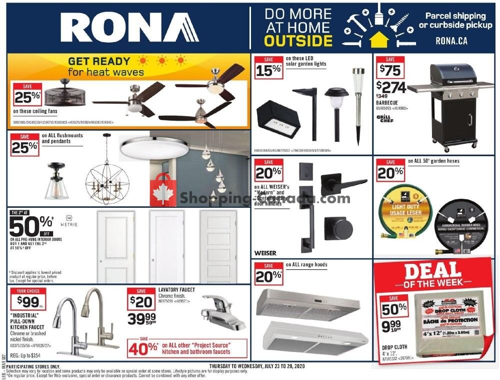 Flyer Rona Canada - from Thursday July 23, 2020 to Wednesday July 29, 2020