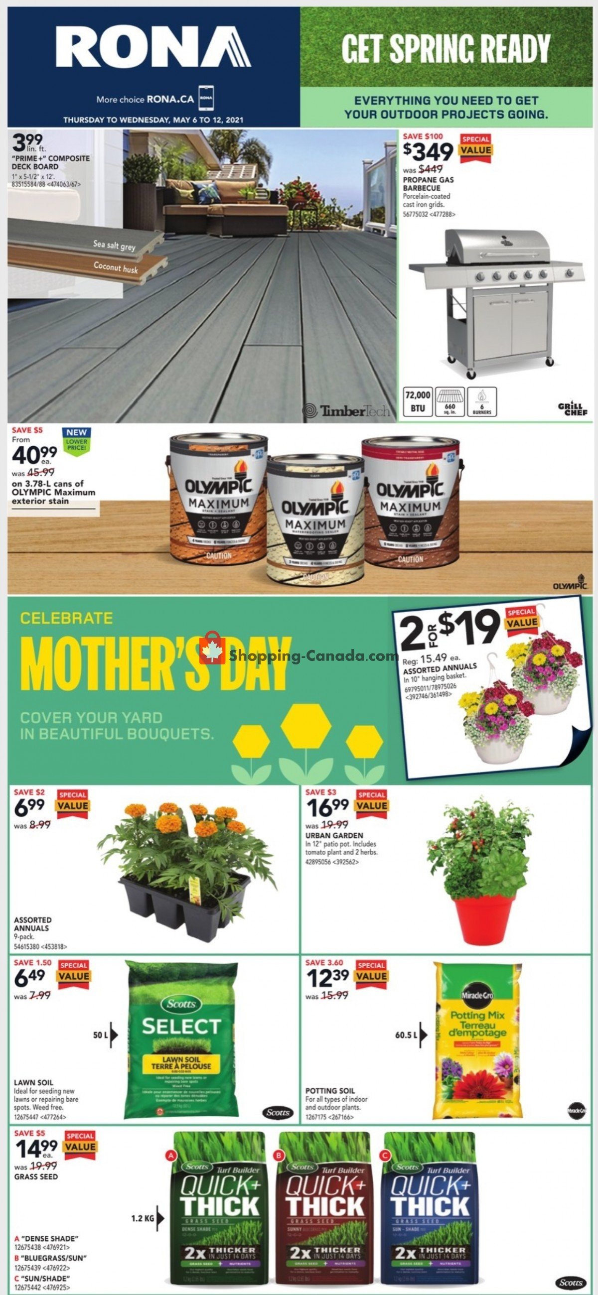 Flyer Rona Canada - from Thursday May 6, 2021 to Wednesday May 12, 2021