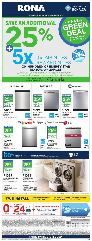 Flyer Rona Canada - from Friday September 6, 2019 to Wednesday September 11, 2019