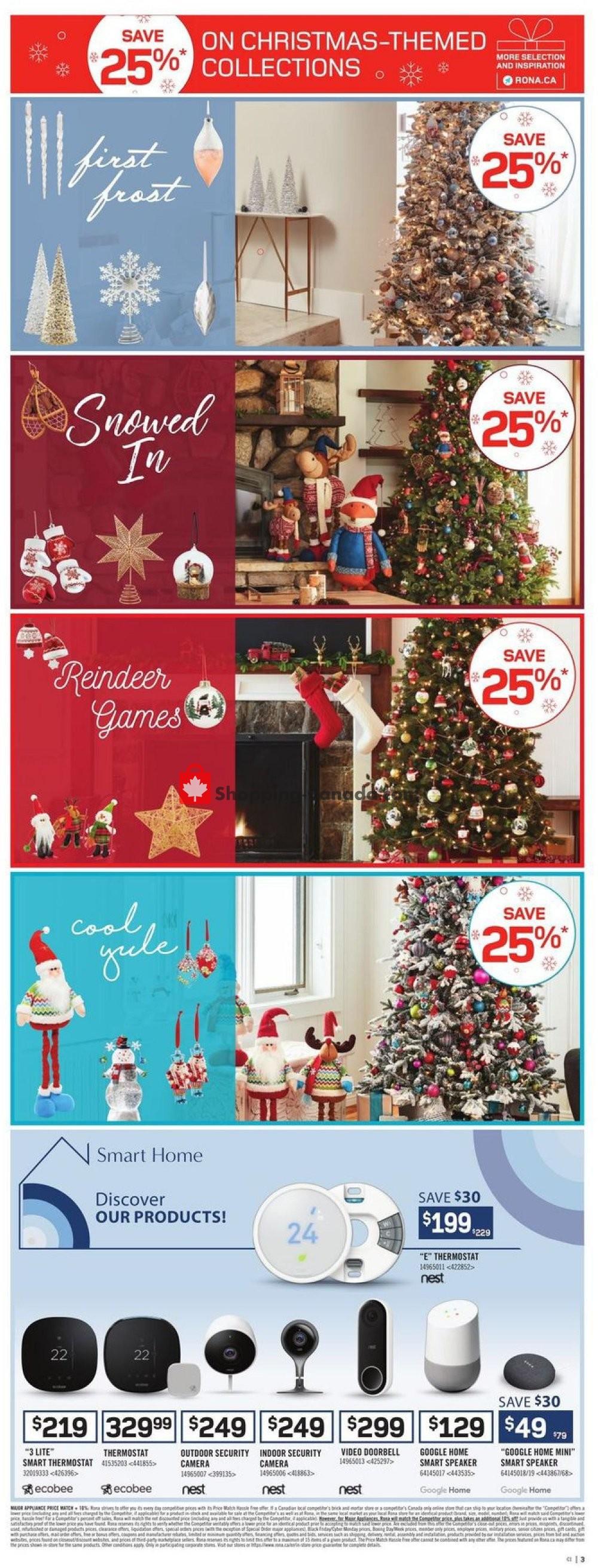Flyer Rona Canada - from Thursday November 7, 2019 to Wednesday November 13, 2019