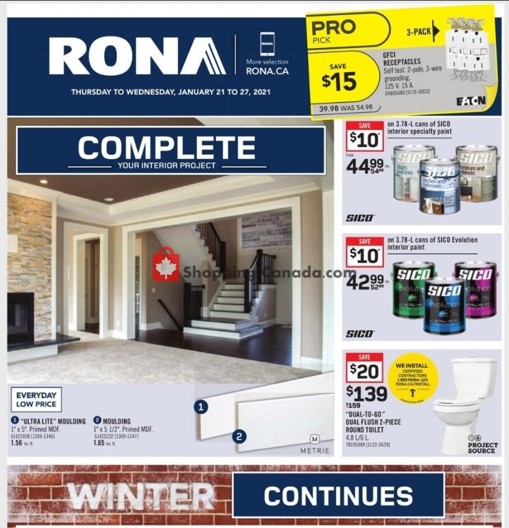 Flyer Rona Canada - from Thursday January 21, 2021 to Wednesday January 27, 2021