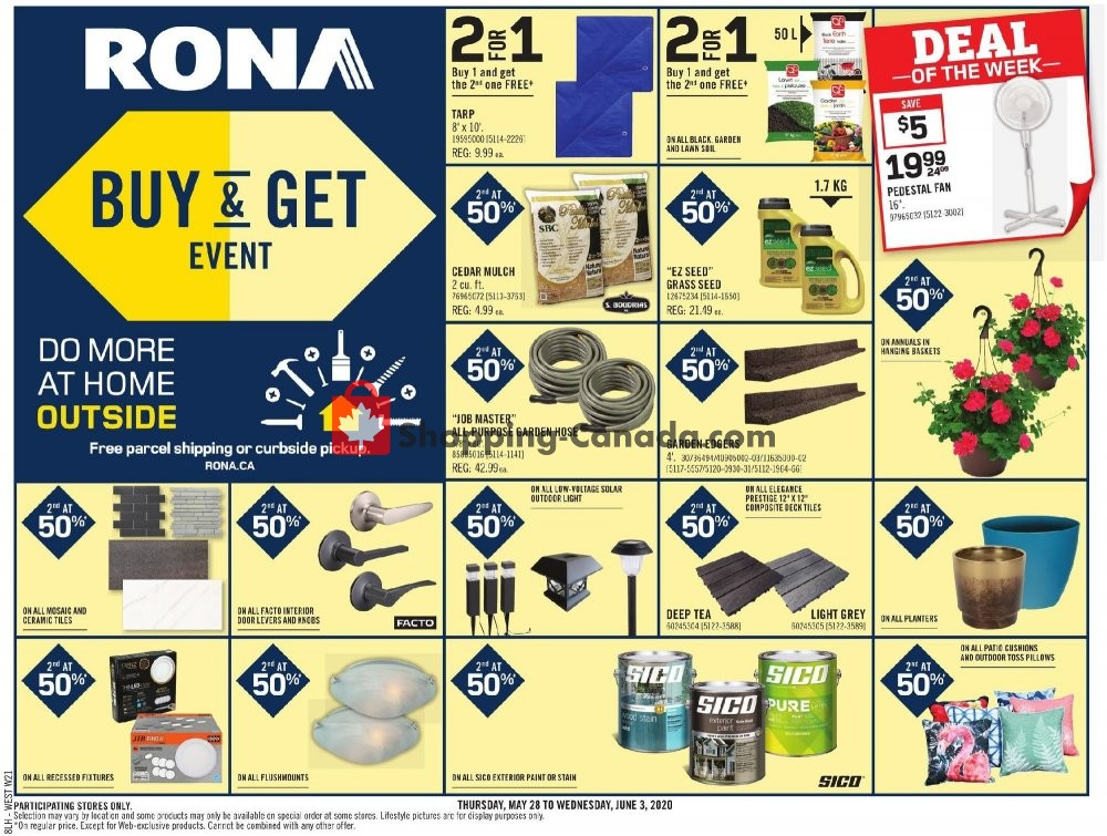 Flyer Rona Canada - from Thursday May 28, 2020 to Wednesday June 3, 2020