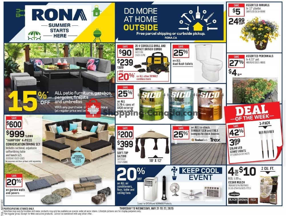 Flyer Rona Canada - from Thursday May 21, 2020 to Wednesday May 27, 2020