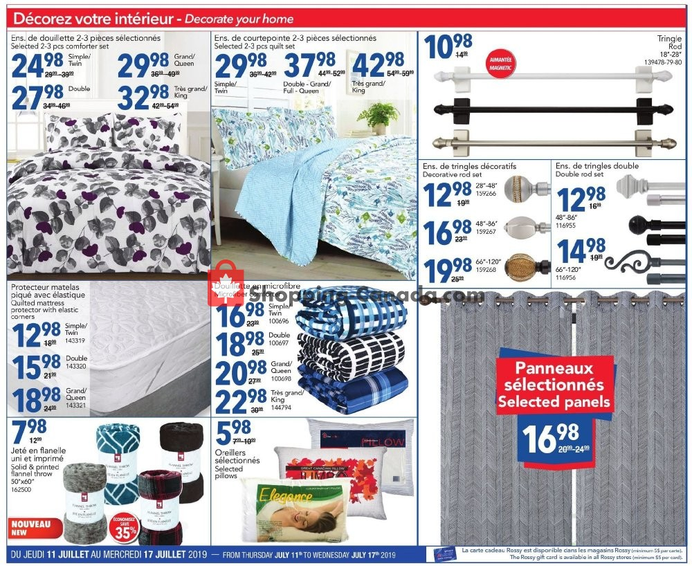 Flyer Rossy Canada - from Thursday July 11, 2019 to Wednesday July 17, 2019