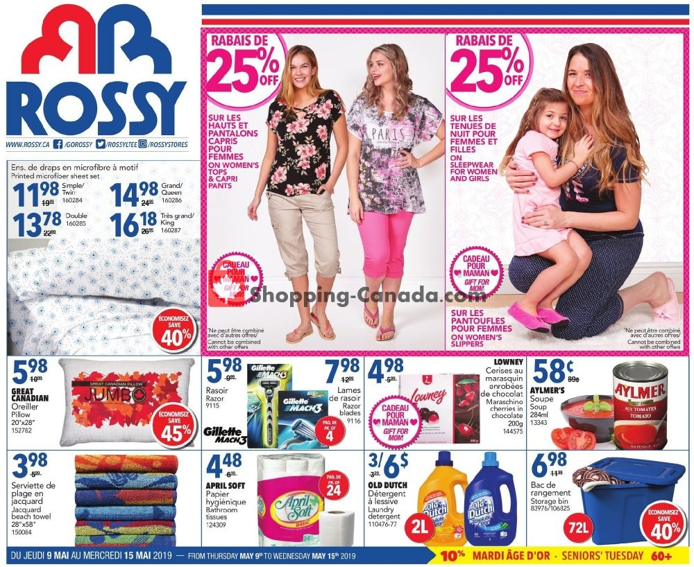 Flyer Rossy Canada - from Thursday May 9, 2019 to Wednesday May 15, 2019