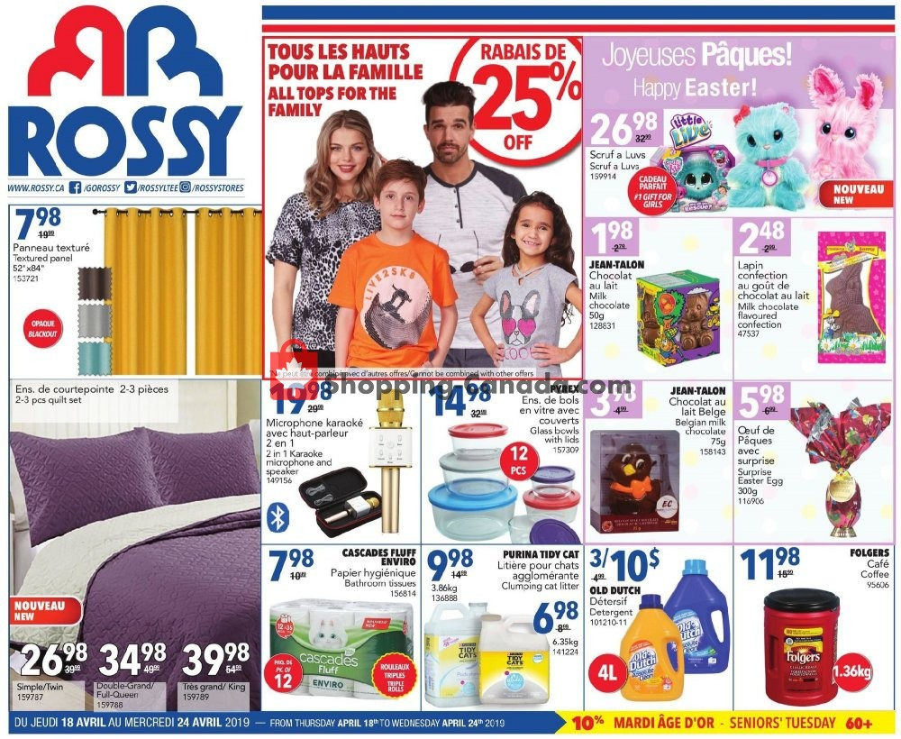 Flyer Rossy Canada - from Thursday April 18, 2019 to Wednesday April 24, 2019