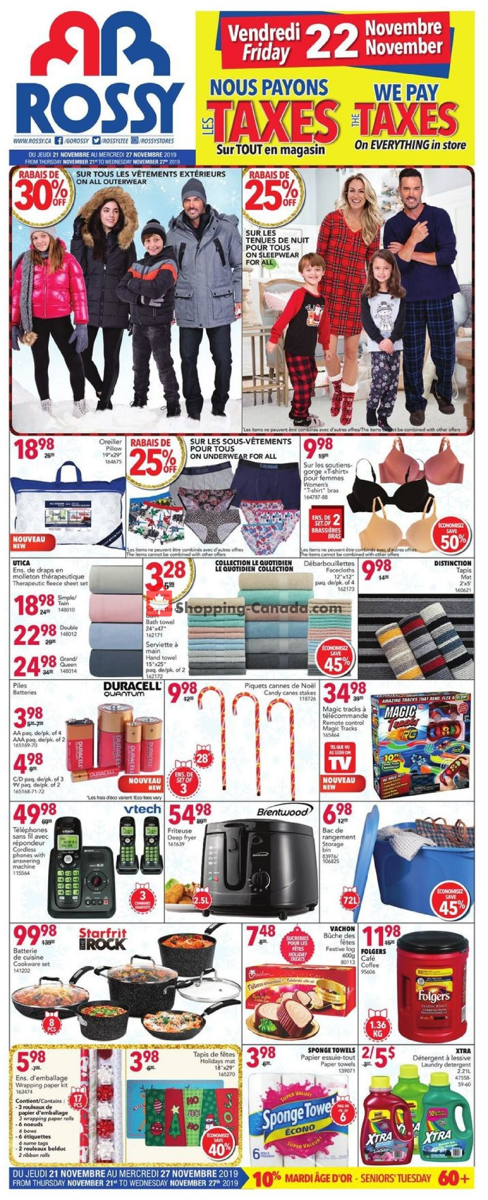 Flyer Rossy Canada - from Thursday November 21, 2019 to Wednesday November 27, 2019