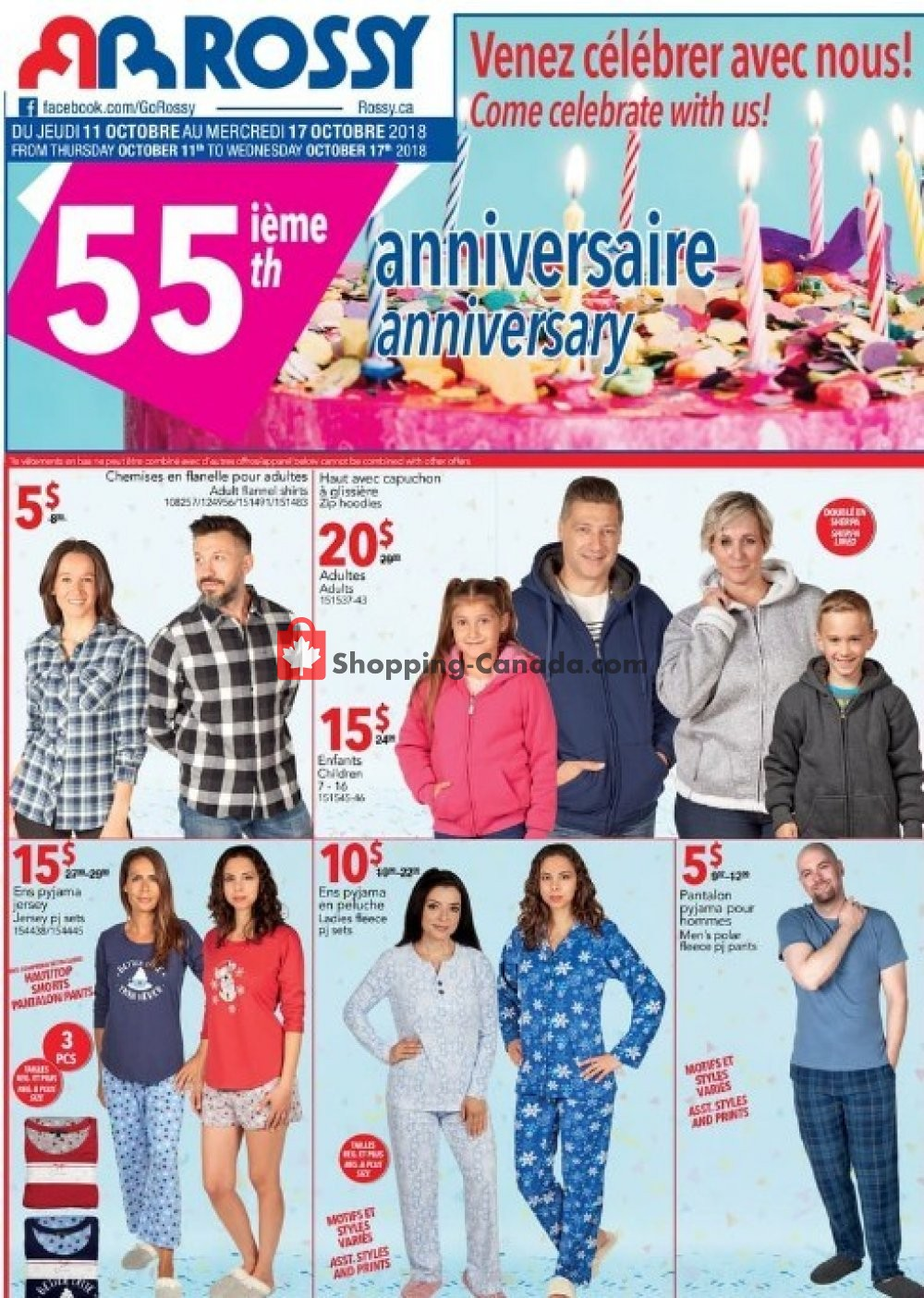 Flyer Rossy Canada - from Thursday October 11, 2018 to Wednesday October 17, 2018