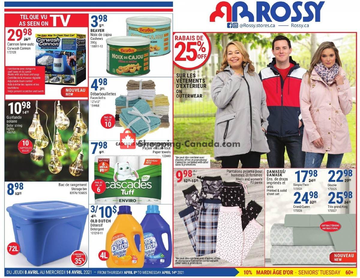 Flyer Rossy Canada - from Thursday April 8, 2021 to Wednesday April 14, 2021
