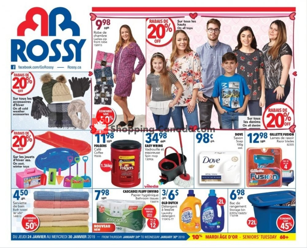 Flyer Rossy Canada - from Thursday January 24, 2019 to Wednesday January 30, 2019