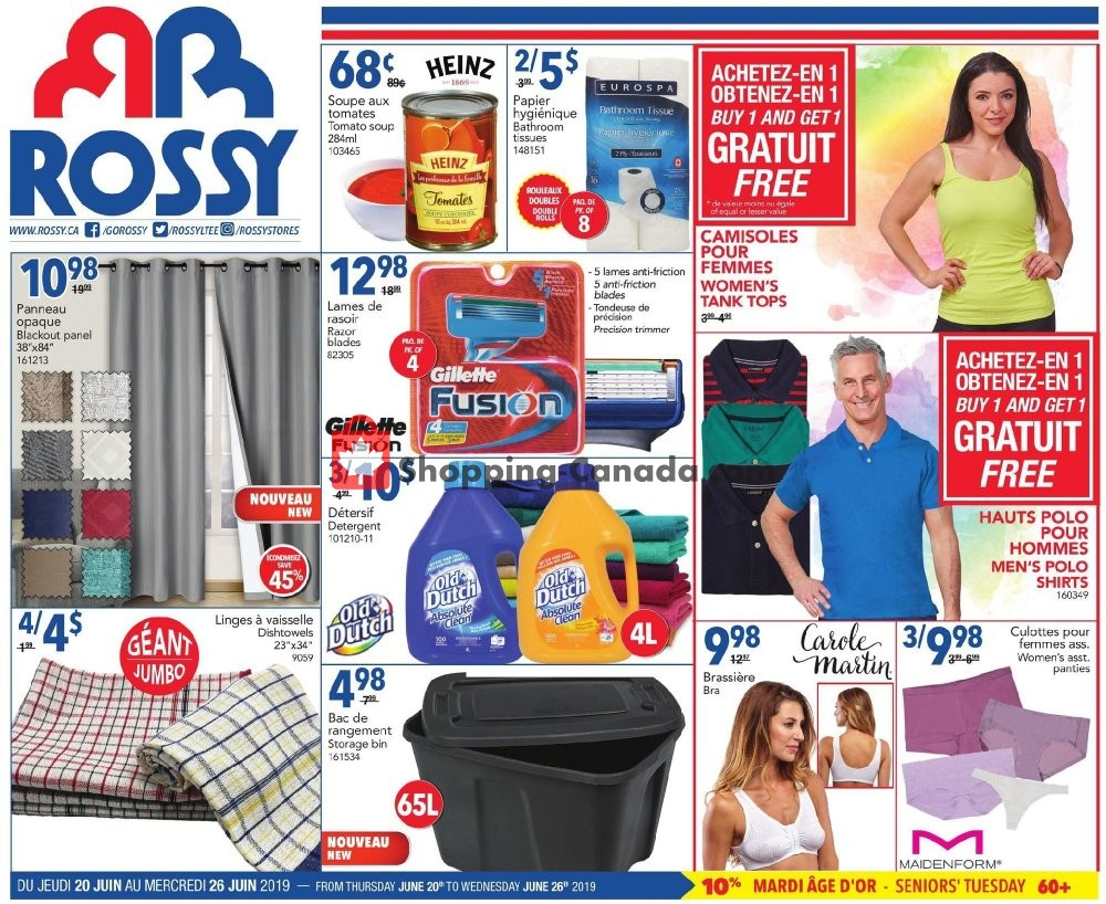 Flyer Rossy Canada - from Thursday June 20, 2019 to Wednesday June 26, 2019