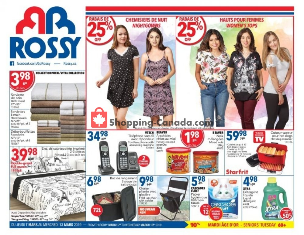 Flyer Rossy Canada - from Thursday March 7, 2019 to Wednesday March 13, 2019