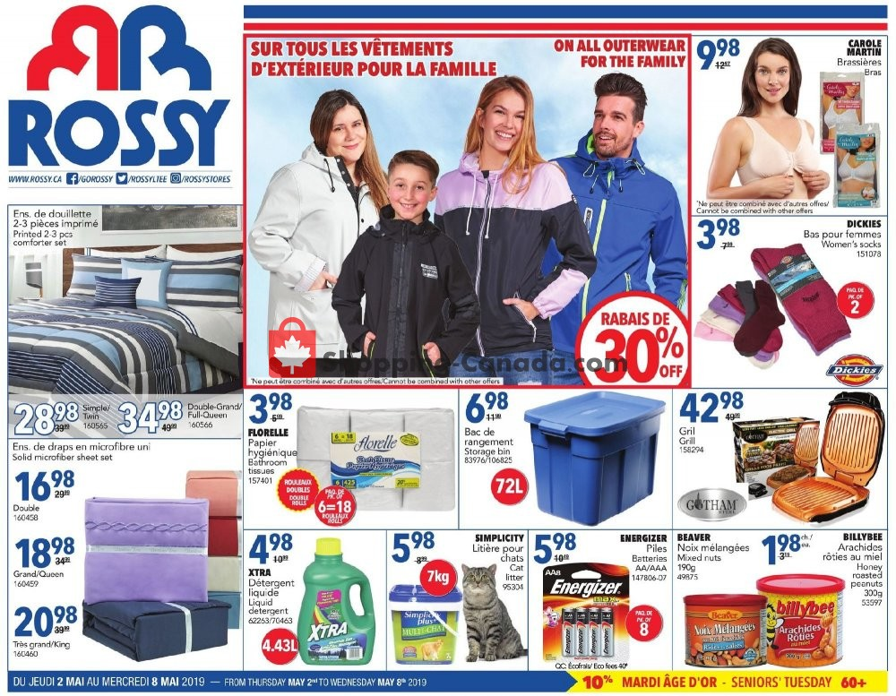 Flyer Rossy Canada - from Thursday May 2, 2019 to Wednesday May 8, 2019