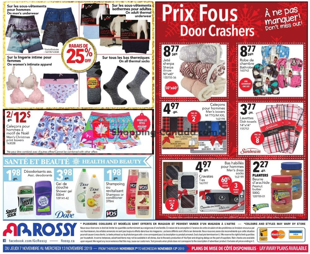Flyer Rossy Canada - from Thursday November 7, 2019 to Wednesday November 13, 2019