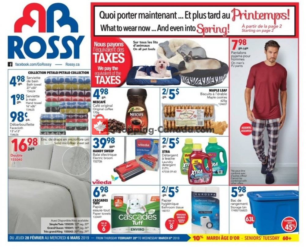 Flyer Rossy Canada - from Thursday February 28, 2019 to Wednesday March 6, 2019