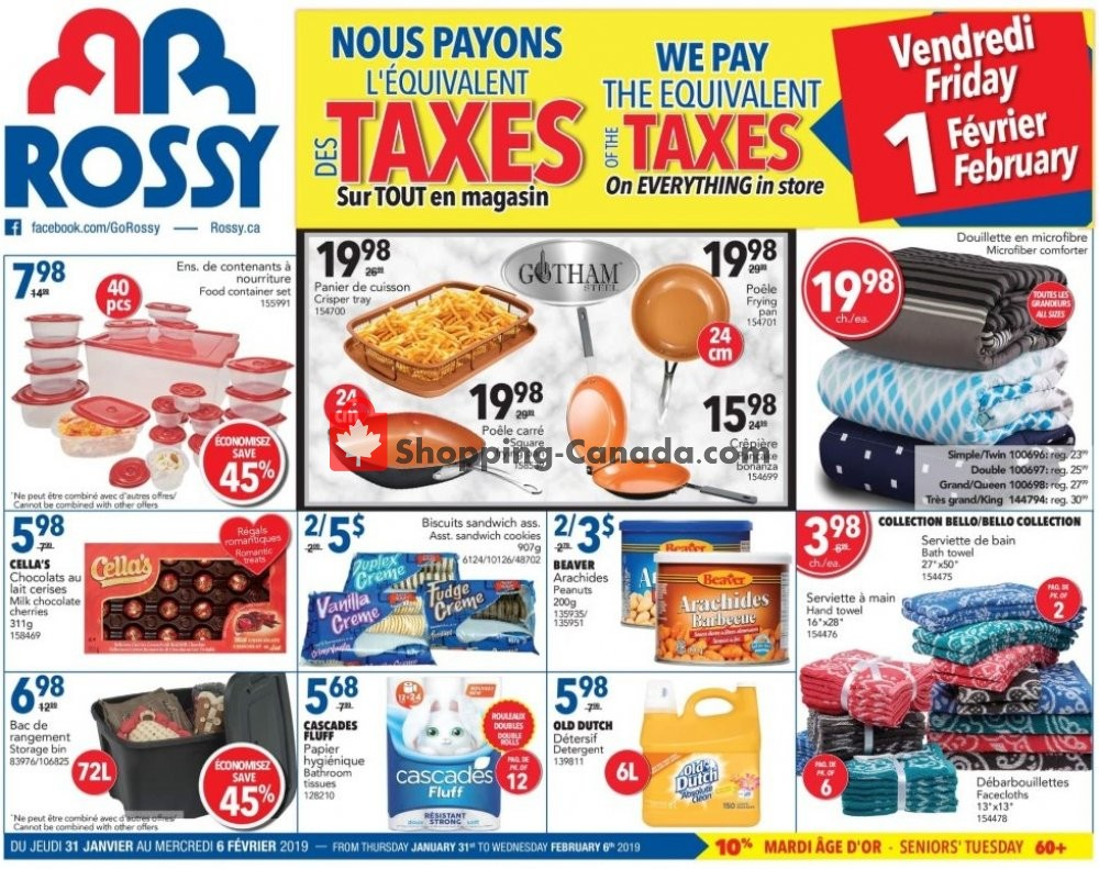 Flyer Rossy Canada - from Thursday January 31, 2019 to Wednesday February 6, 2019