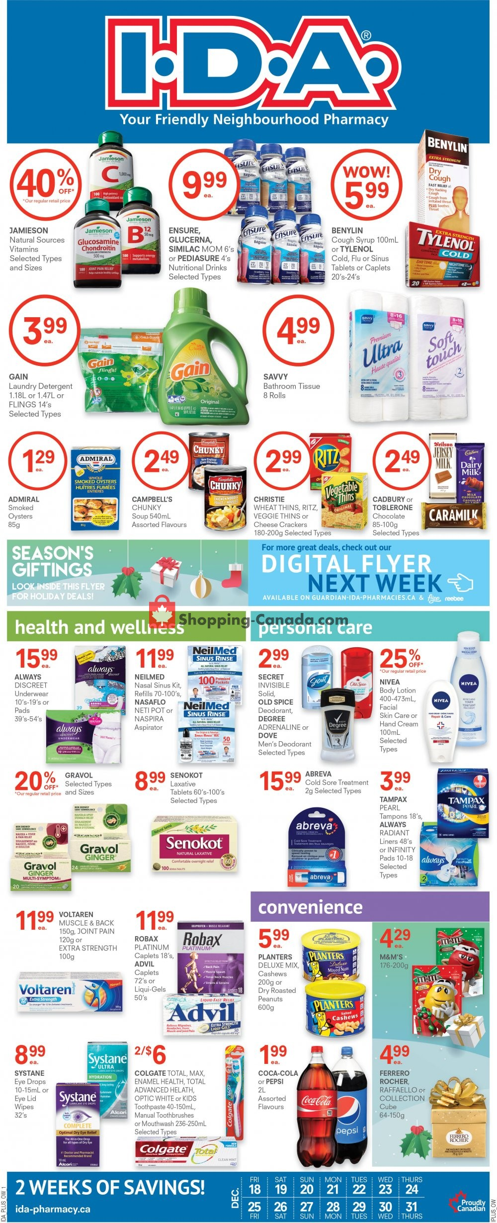 Flyer Roulston's Pharmacy Canada - from Friday December 18, 2020 to Thursday December 31, 2020