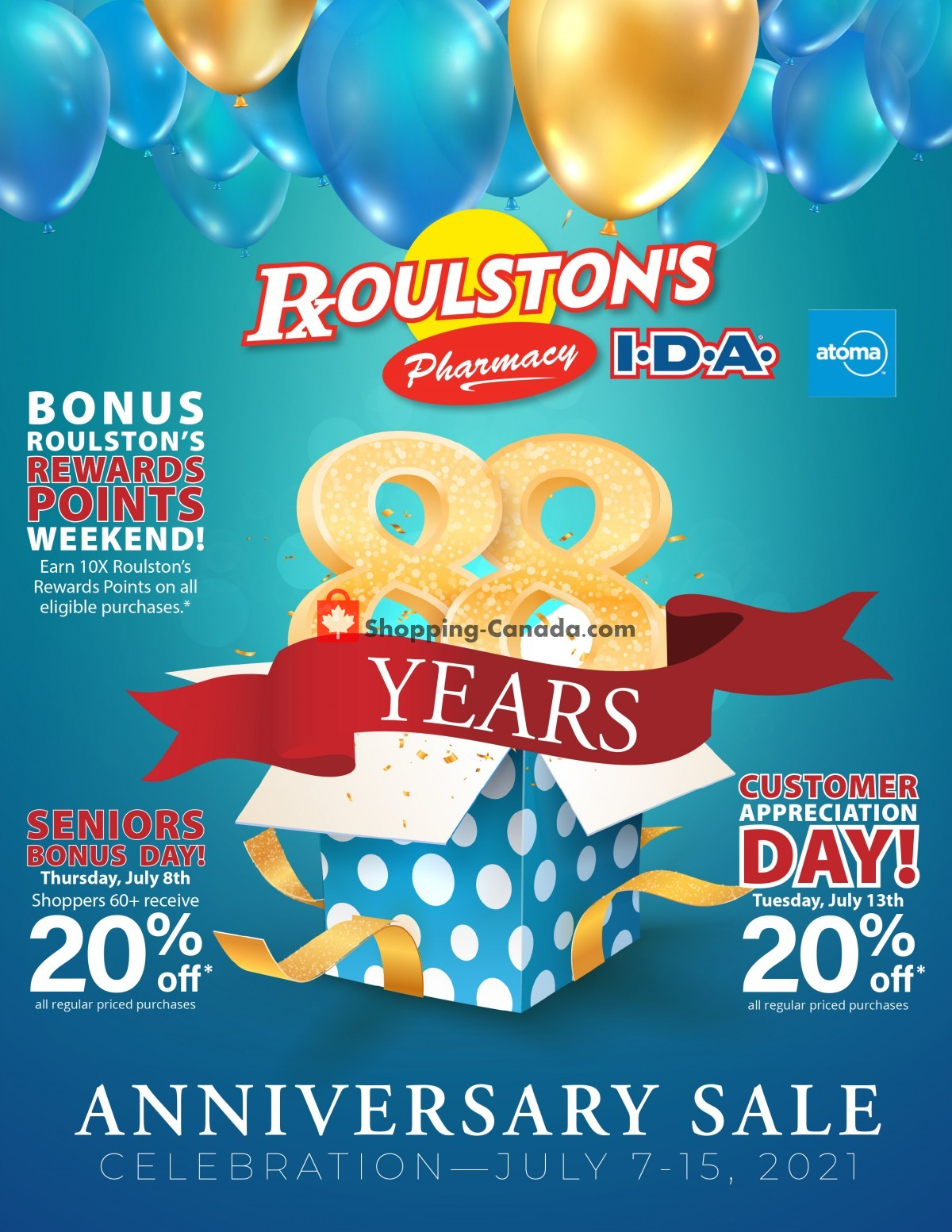 Flyer Roulston's Pharmacy Canada - from Wednesday July 7, 2021 to Thursday July 15, 2021