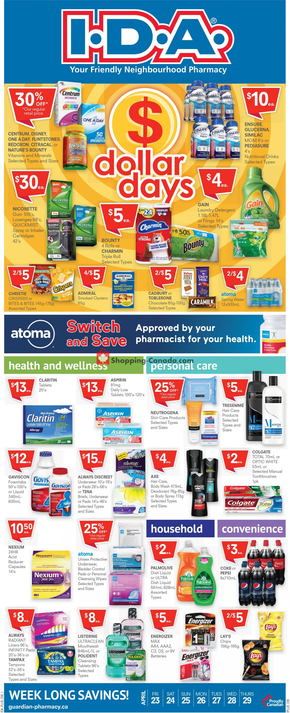 Flyer Roulston's Pharmacy Canada - from Friday April 23, 2021 to Thursday April 29, 2021