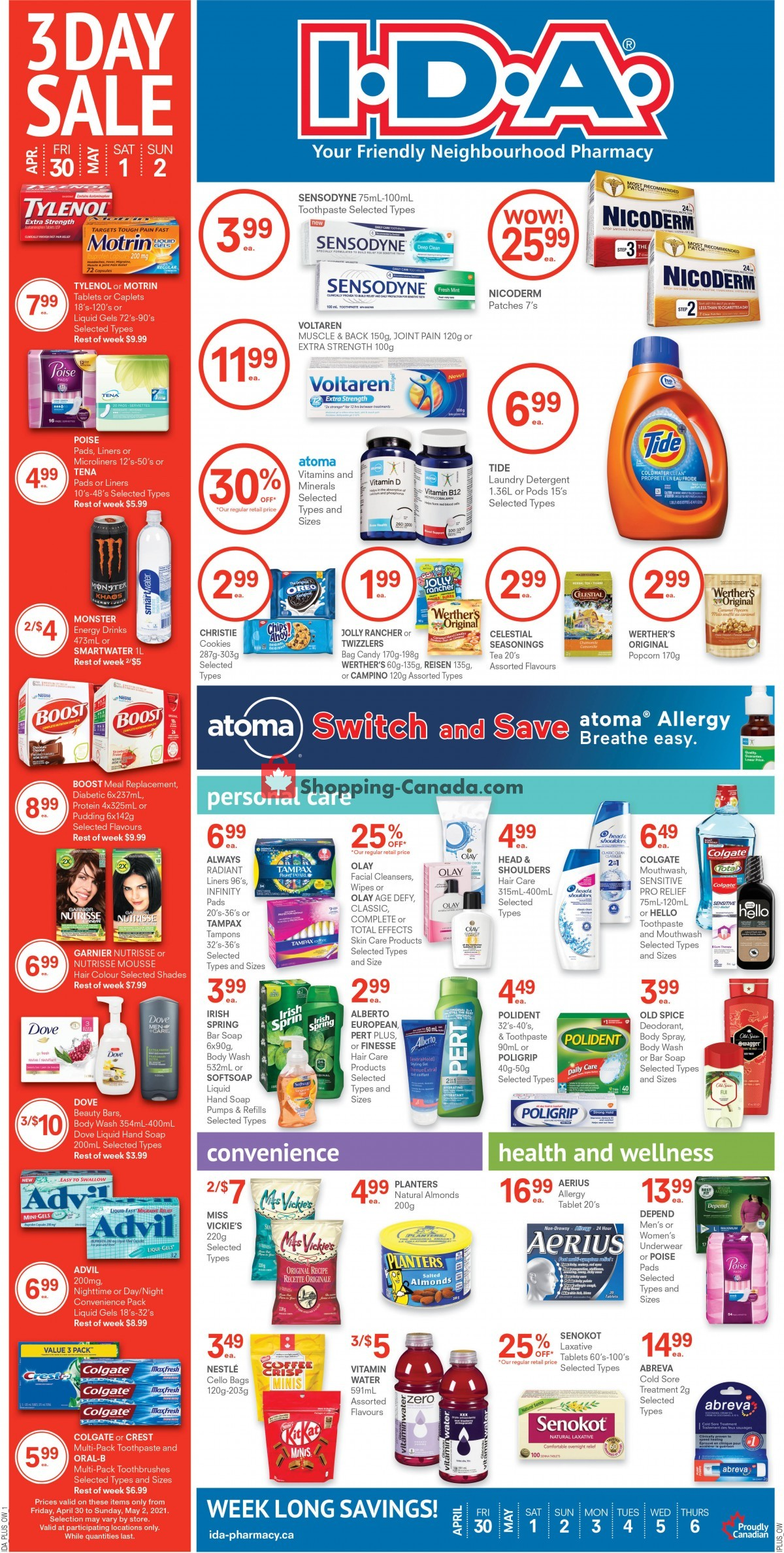 Flyer Roulston's Pharmacy Canada - from Friday April 30, 2021 to Thursday May 6, 2021