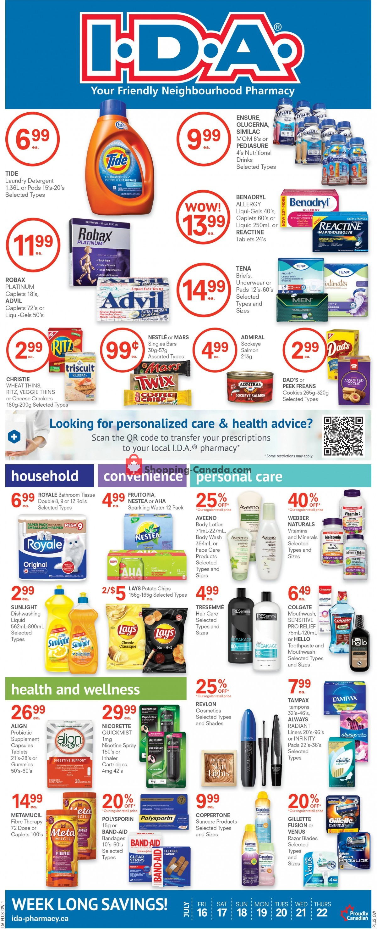 Flyer Roulston's Pharmacy Canada - from Friday July 16, 2021 to Thursday July 22, 2021