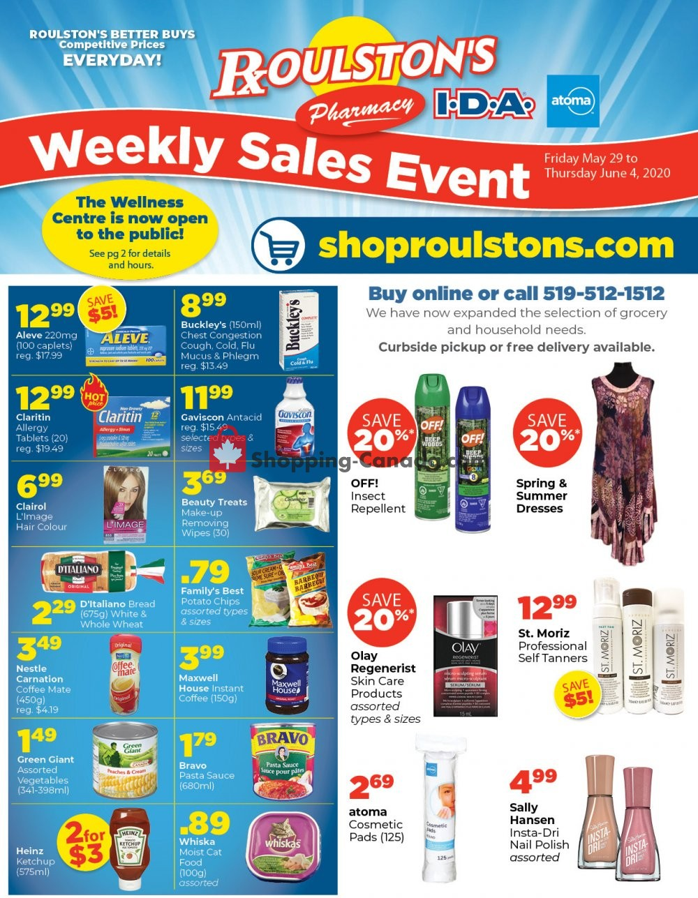 Flyer Roulston's Pharmacy Canada - from Friday May 29, 2020 to Thursday June 4, 2020