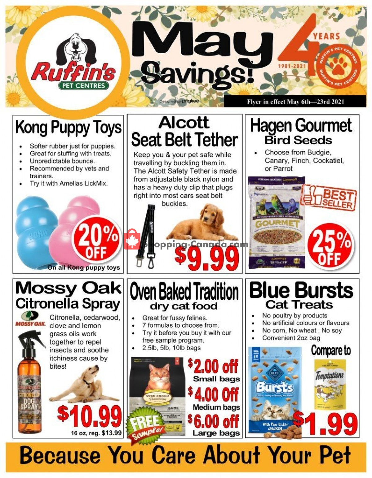 Flyer Ruffin's Pet Centre Canada - from Thursday May 6, 2021 to Sunday May 23, 2021