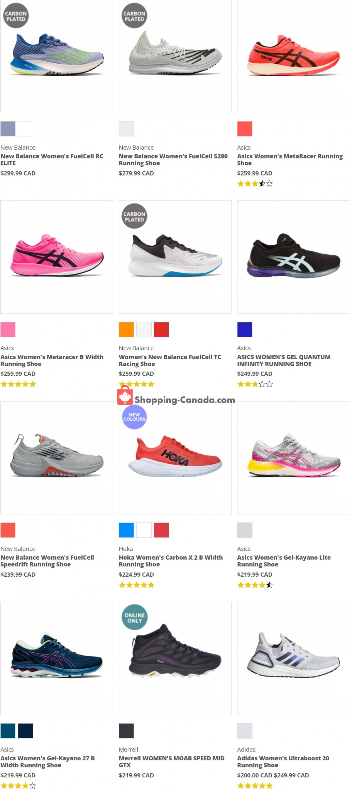 Flyer Running Room Canada - from Friday July 9, 2021 to Thursday July 15, 2021