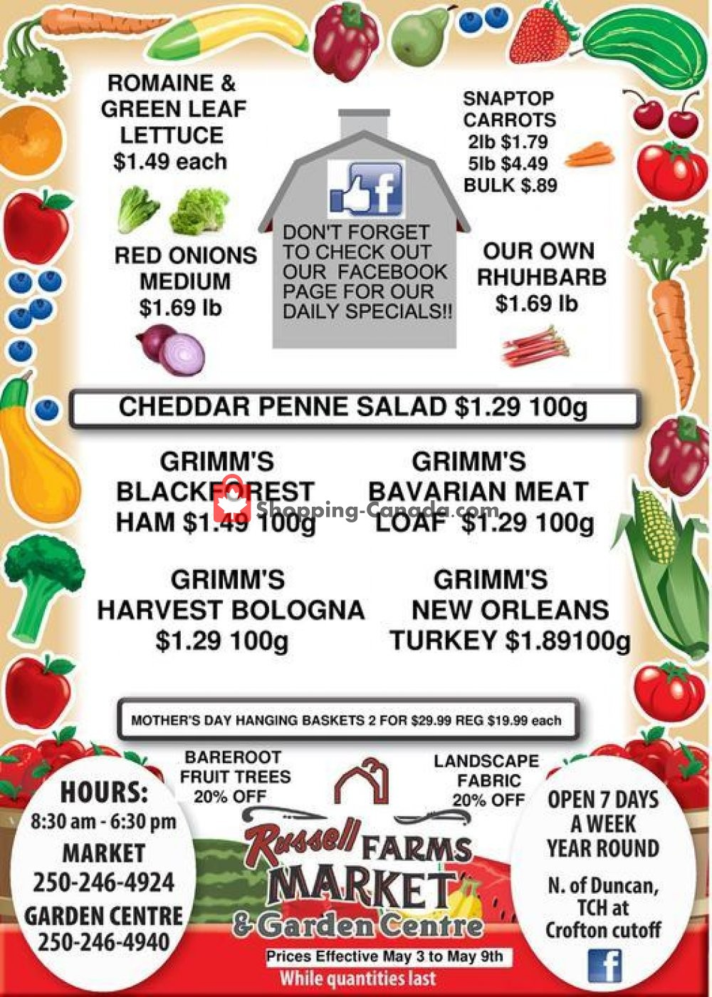 Flyer Russell Farm Market Canada - from Saturday May 4, 2019 to Thursday May 9, 2019