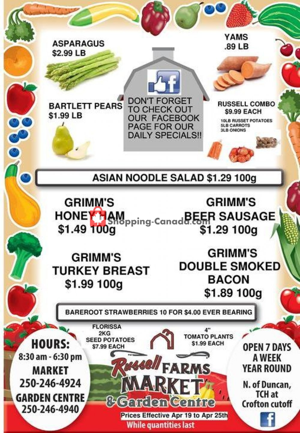 Flyer Russell Farm Market Canada - from Friday April 19, 2019 to Thursday April 25, 2019