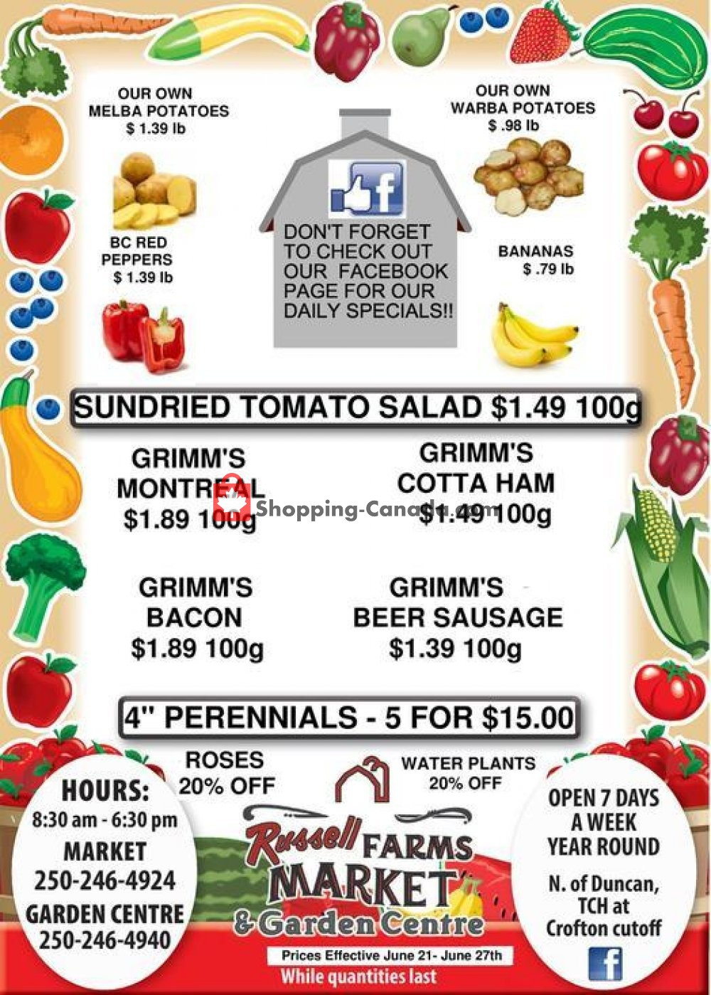 Flyer Russell Farm Market Canada - from Friday June 21, 2019 to Thursday June 27, 2019