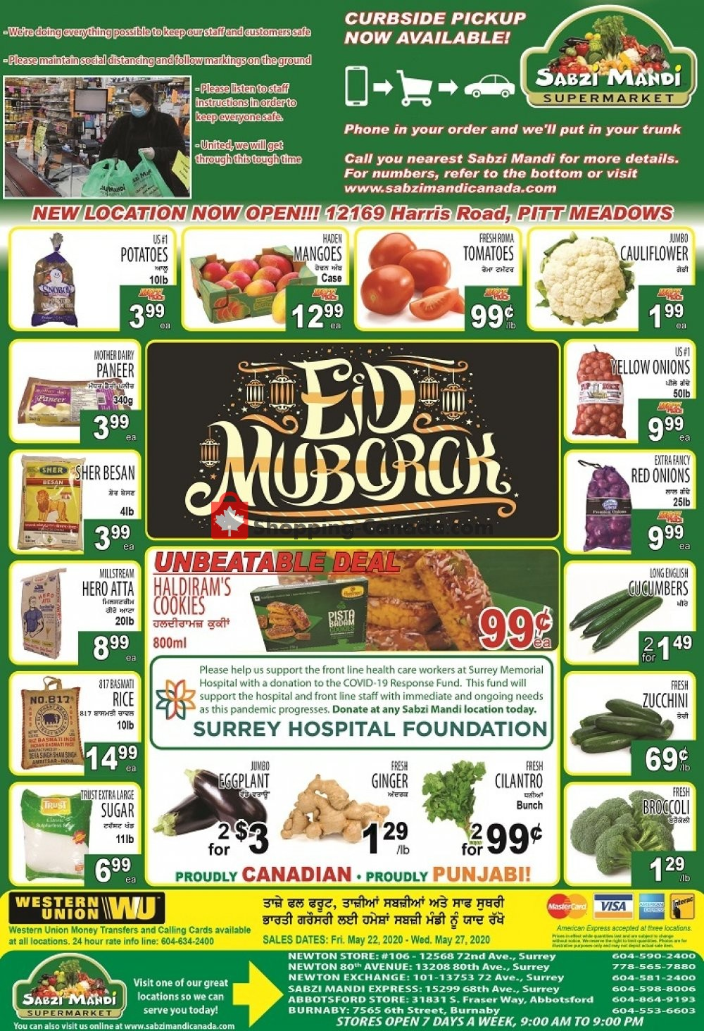 Flyer Sabzi Mandi Supermarket Canada - from Friday May 22, 2020 to Wednesday May 27, 2020